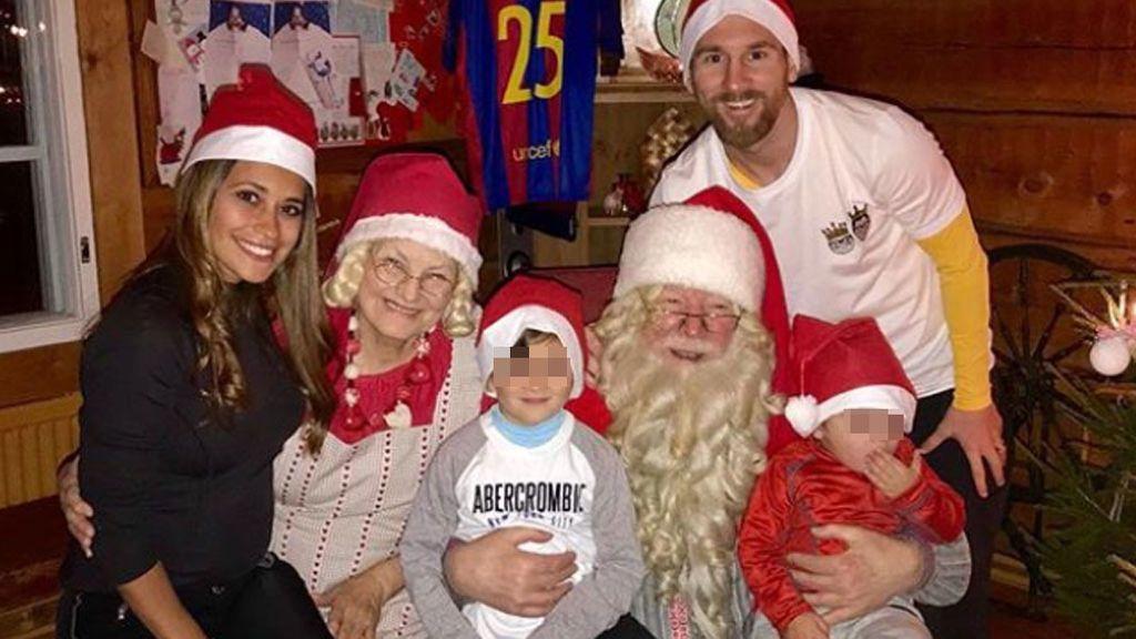 Leo Messi y Antonella han pasado la Navidad con el mismísimo Papá Noel