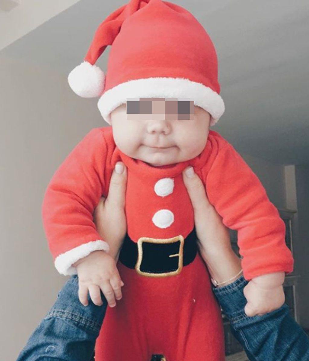 María José Suárez felicitó la Navidad con el pequeño Elías vestido de Santa Claus
