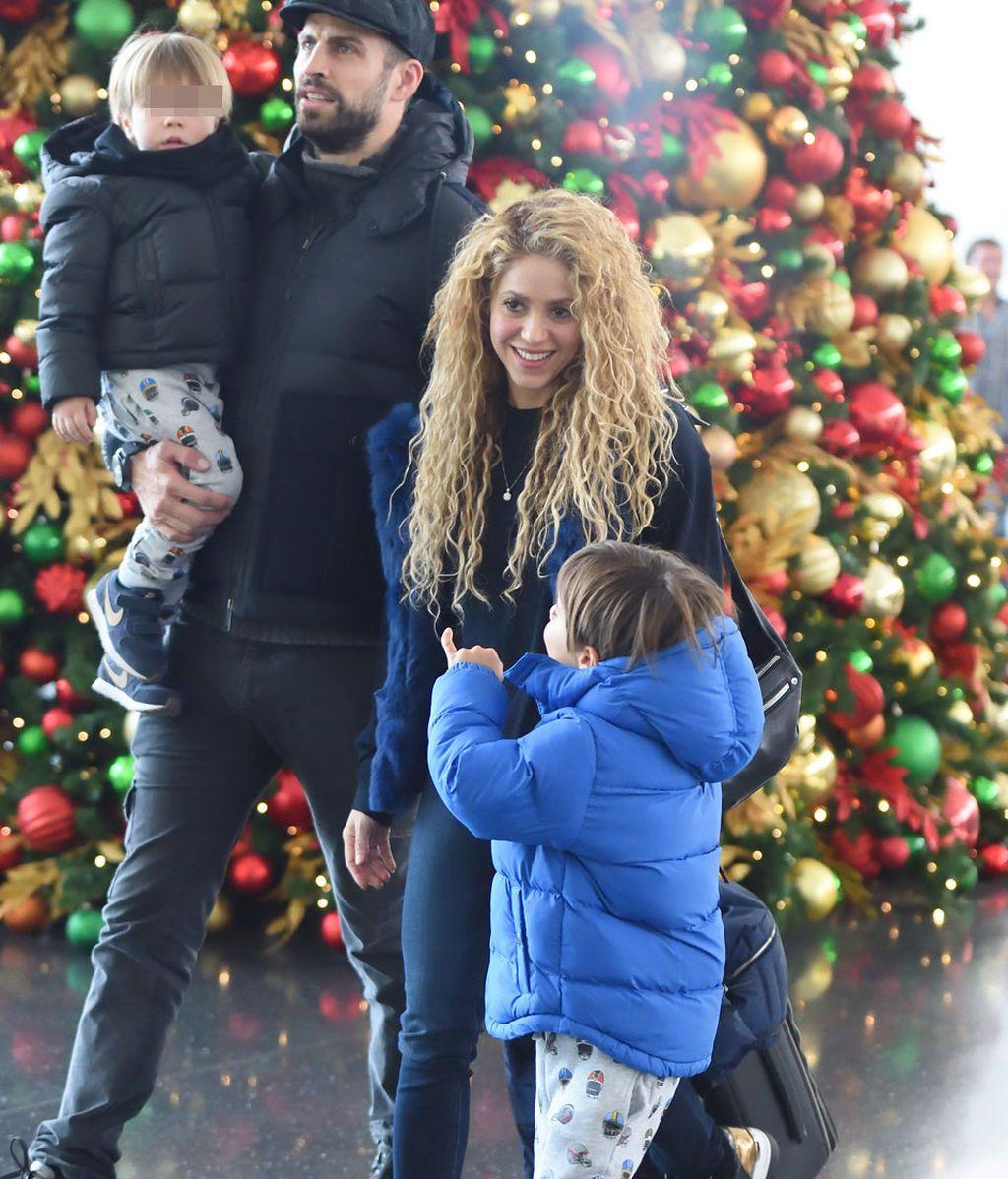 Shakira, Piqué, Milan y Sasha: la navidad 😍😍 de los Piqué Mebarak en Nueva York