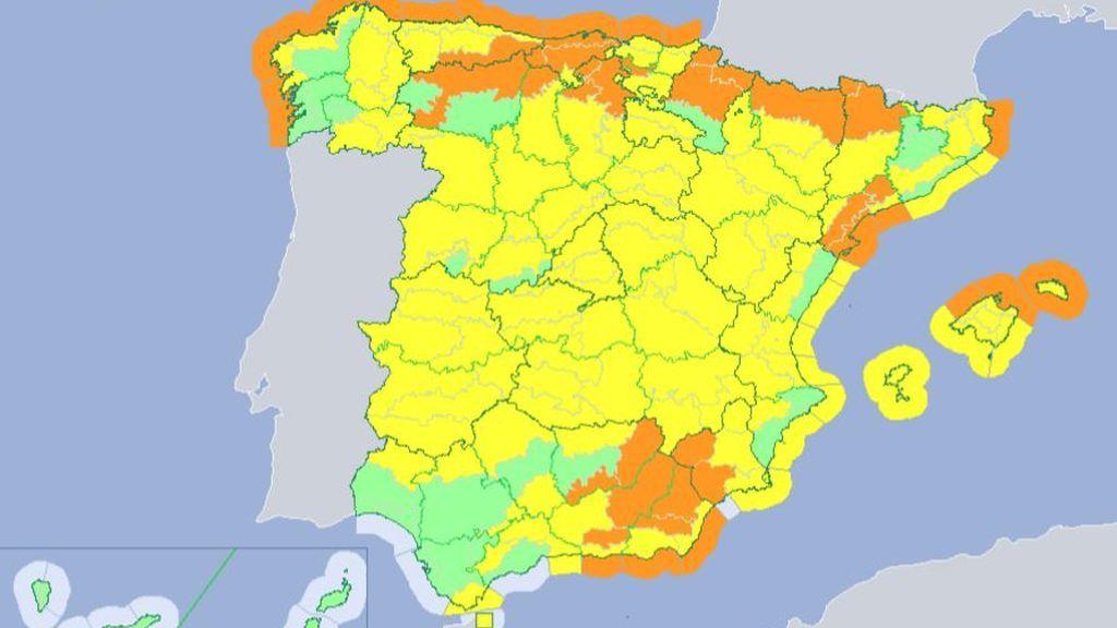 Nieve, lluvia y viento: TODAS las comunidades españolas están en alerta por Bruno