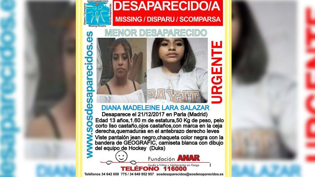 Desaparece una chica de 13 años en Parla tras escribir una carta a su madre diciendo que la quería