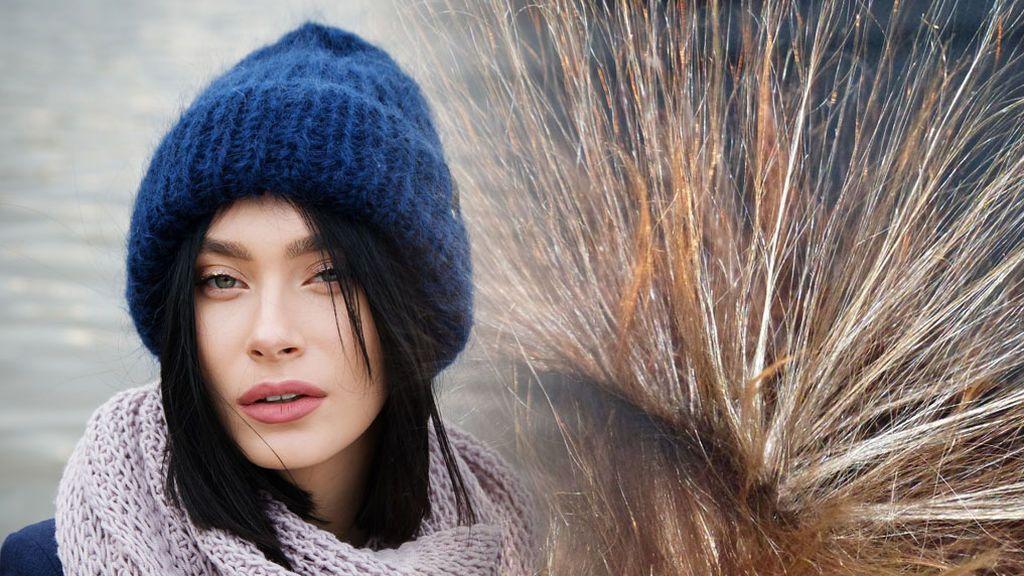 Cómo evitar que se te electrifique el pelo con el gorro de la lana para el frío