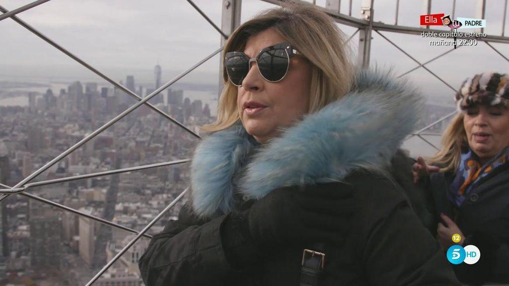 """Los piques de Terelu y Carmen en lo alto del Empire State: """"Ya me estás dejando de cateta"""""""