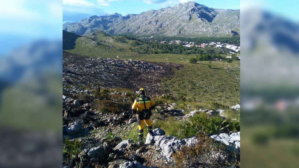 Extinguido el incendio forestal de Pollença, que ha quemado 79,5 hectáreas de matorral