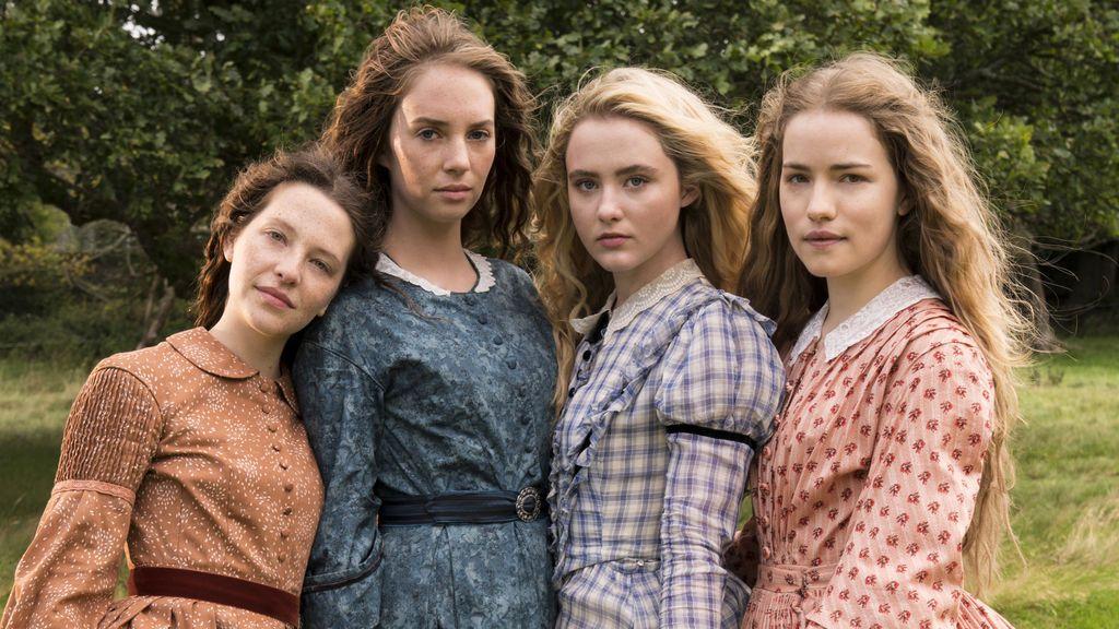 Annes Elwy, Maya Hawke, Kathryn Newton y Willa Fitzgerald, protagonitas de la miniserie 'Mujercitas'.