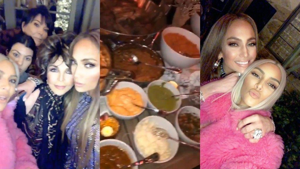 Kim Kardashian se va a la fiesta de tacos de JLo para celebrar su cambio de look