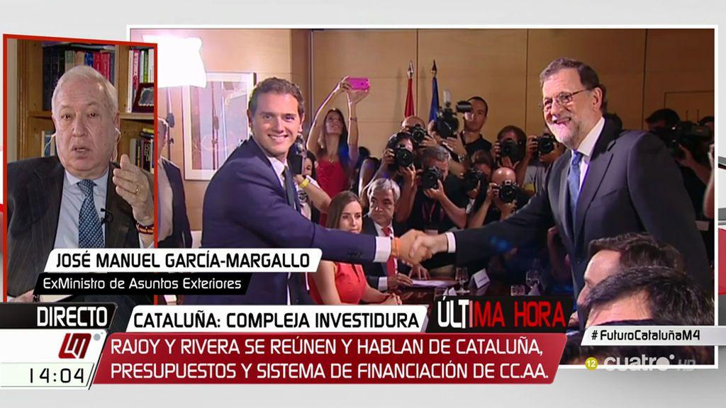 """Margallo, tras la reunión Rajoy–Rivera: """"Probablemente, tengamos que reformar la Constitución"""""""