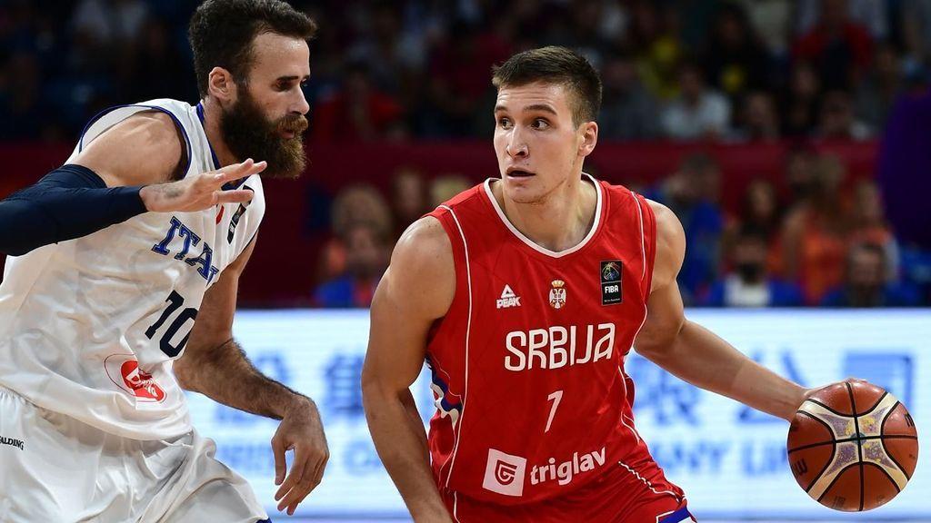 Imagen del encuentro entre Italia y Serbia en el Eurobasket 2017