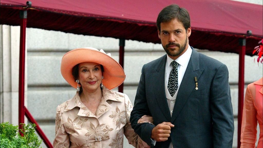 Carmen Franco y su nieto, Luis Alfonso de Borbón