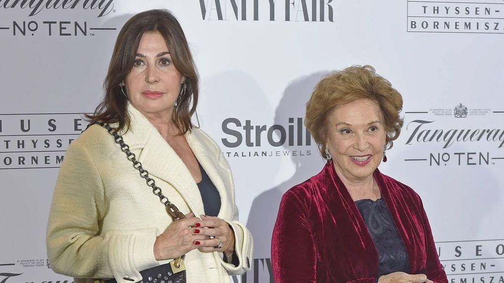 Carmen Franco con su hija Carmen Martínez Bordiú