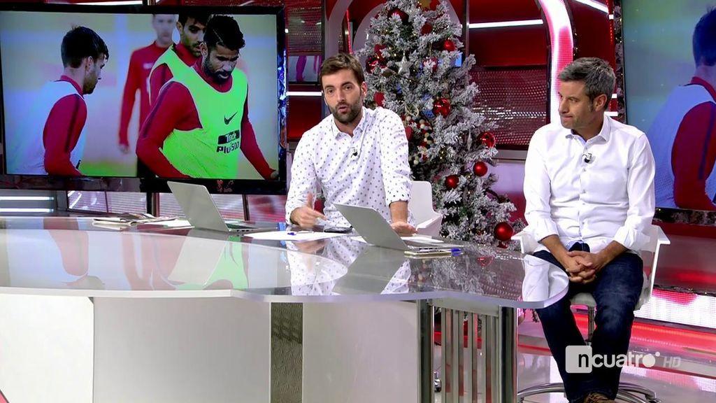 Vitolo y Diego Costa ya están en el Atleti: bromas y vaciles en el entrenamiento