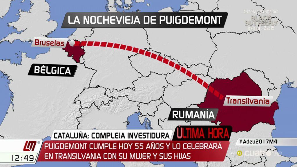 Carles Puigdemont pasará la Nochevieja en Rumanía