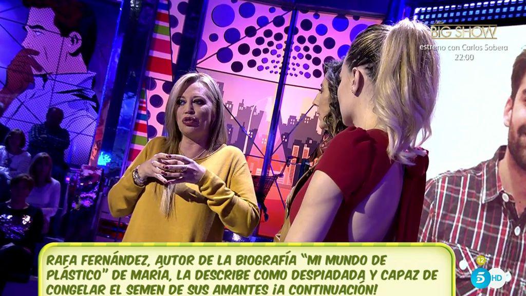 """Belén Esteban, a María Lapiedra: """"Gustavo no se ha liberado, yo le veo triste"""""""