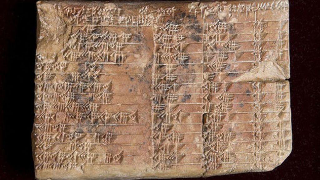 Una tablilla babilónica esconde la tabla trigonométrica más antigua del mundo