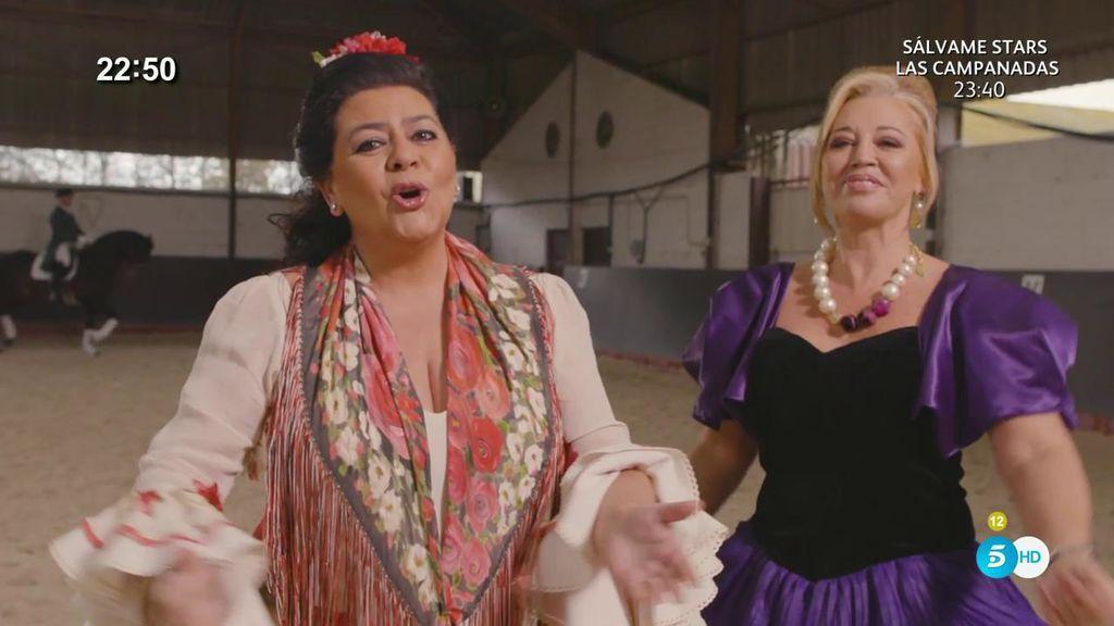 Belén Esteban interpreta a dúo con María del Monte 'Cántame'