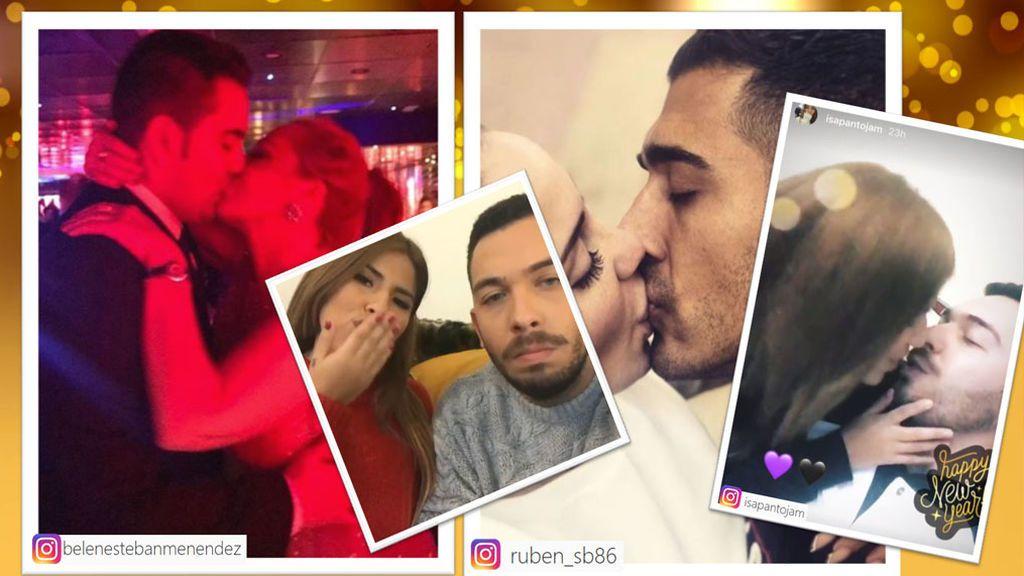 Belén Esteban, Chabelita, Sofía Suescun... ¡los mejores besos 'VIP' en 'Nochevieja'!