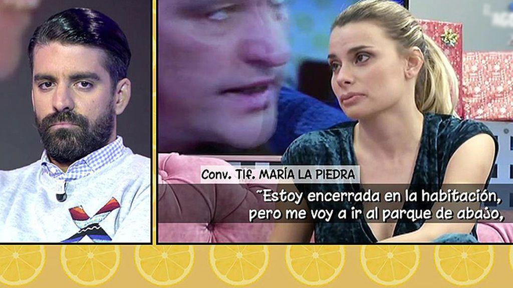 María Lapiedra niega haber sentido miedo de su marido