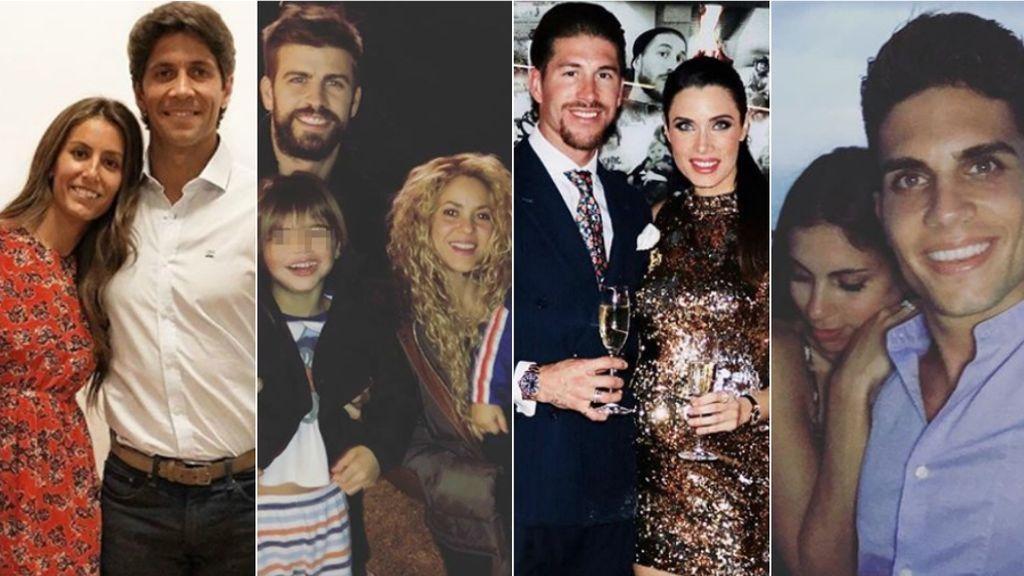 PauEche, Carbonero, Shakira, los Ronaldo... La Nochevieja VIP, en fotos