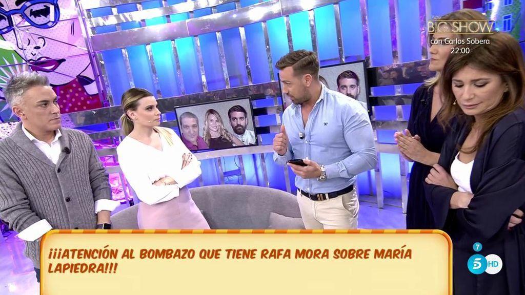 Rafa Mora insinúa que María Lapiedra podría tener un trabajo oculto para mantener su ritmo de vida