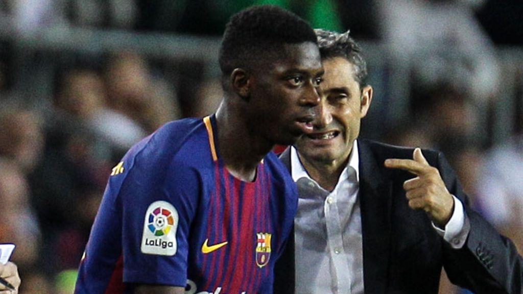 Ousmane Dembélé, a disposición de Valverde tras recibir el alta médica
