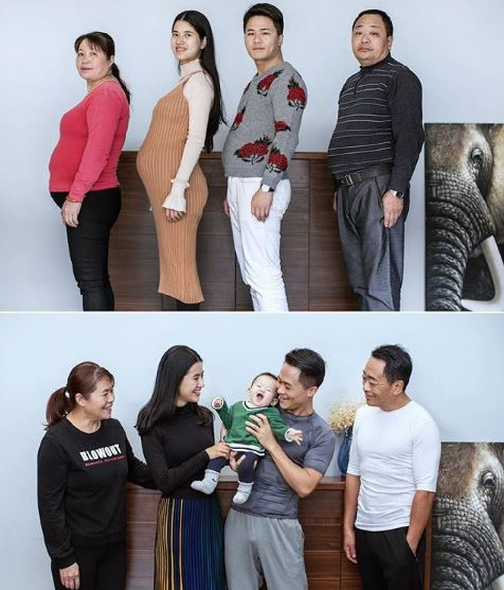 Una familia se pone a dieta y los resultados que consiguen en seis meses se hacen viral