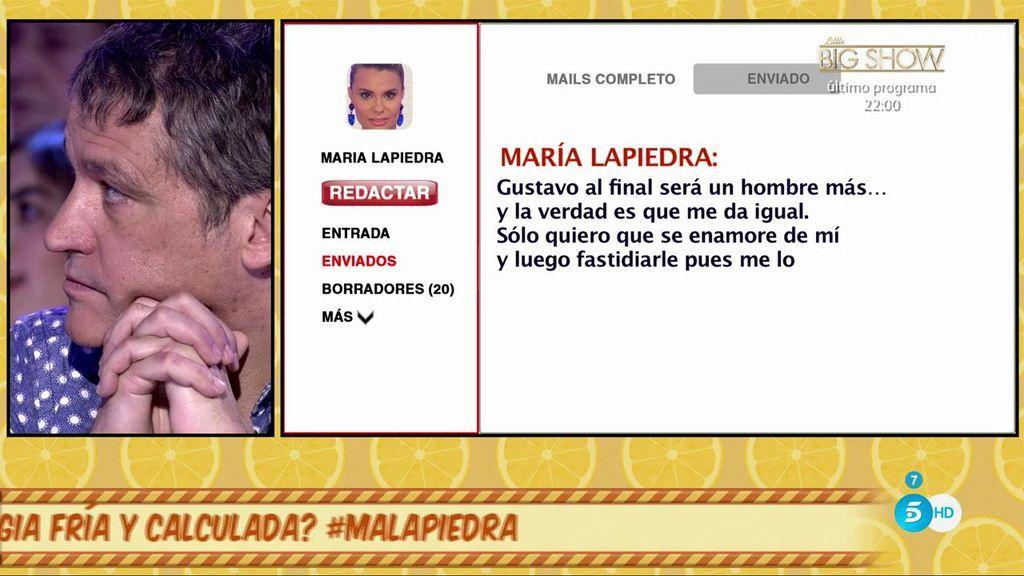 """El biógrafo de María Lapiedra nos muestra lo que decía de Gustavo González: """"Solo quiero que se enamore de mí y luego fastidiarle"""""""