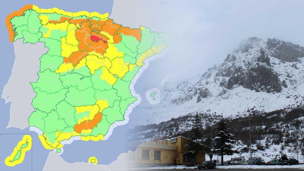 Avisos rojos: nieve a 400 metros este fin de semana