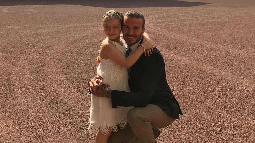 David Beckham y su hija, Harper Seven ahora son 'La Dama y el Vagabundo'