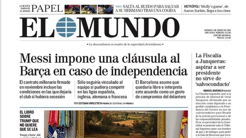 Así es la cláusula anti-independencia de Cataluña en el contrato de Leo Messi