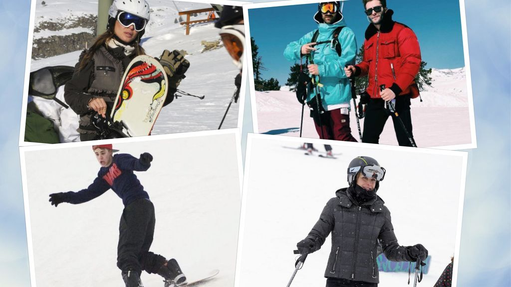 Celebrities en la nieve: Famosos esquiadores vs snowboarders