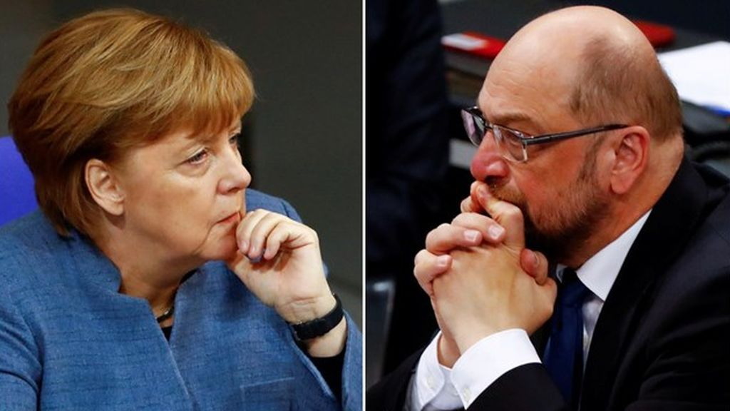 """Comienza la ronda de conversaciones para repetir la """"gran coalición"""" en Alemania"""