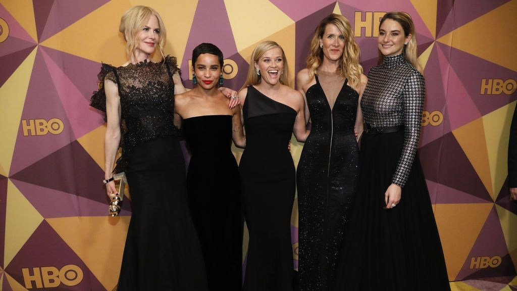 HBO Golden Globe After Party - Llegadas - Beverly Hills, California, EE. UU., 01/07/2018 - Actrices (LR) Nicole Kidman, Zoe Kravitz, Reese Witherspoon, Laura Dern y Shailene Woodley