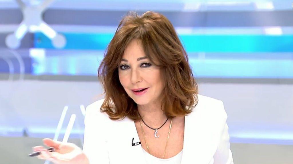 Ana Rosa Quintana, en el programa matinal de Telecinco del lunes 8 de enero.