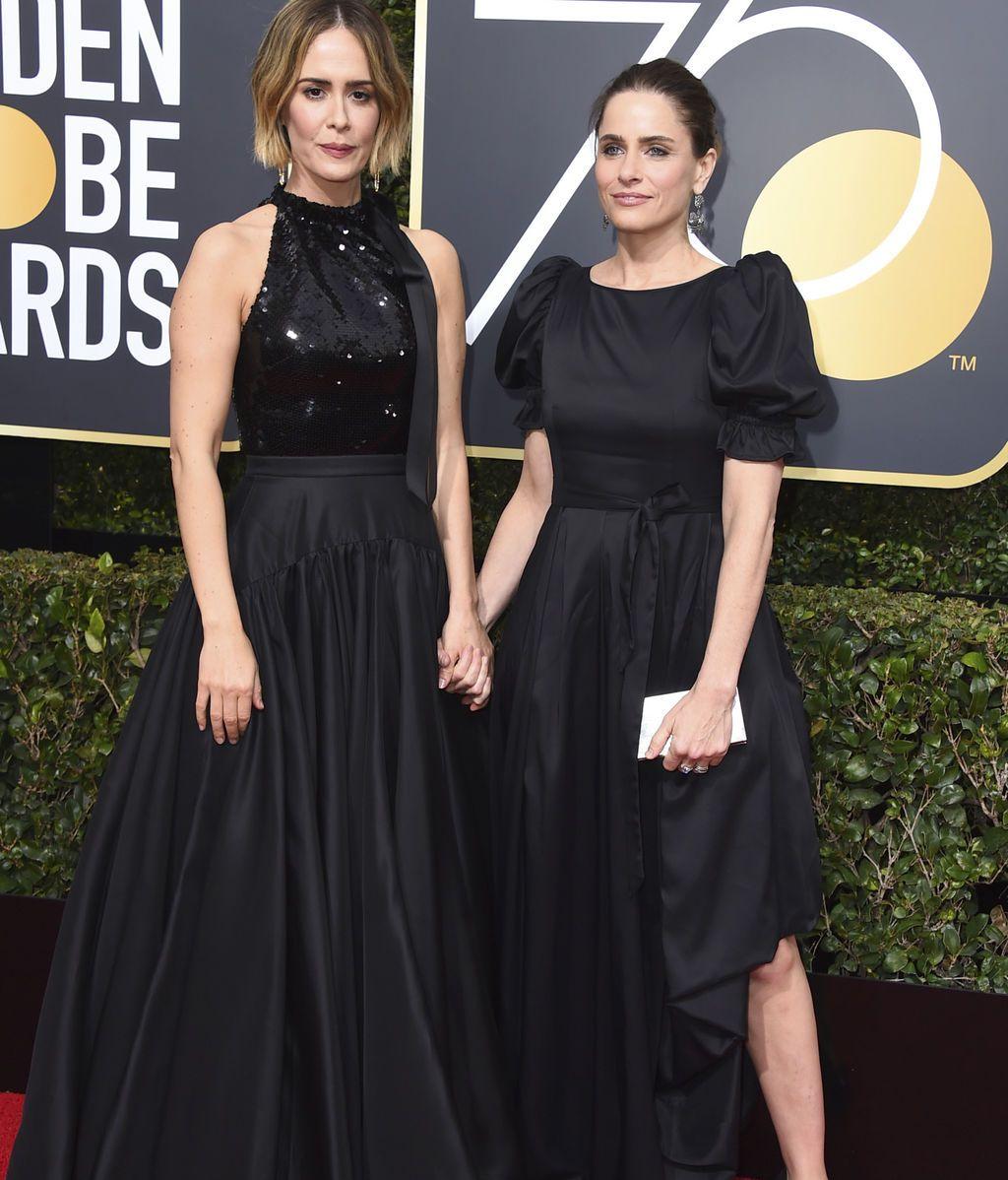 La alfombra 'negra' de los Globos de Oro contra el abuso sexual, foto a foto
