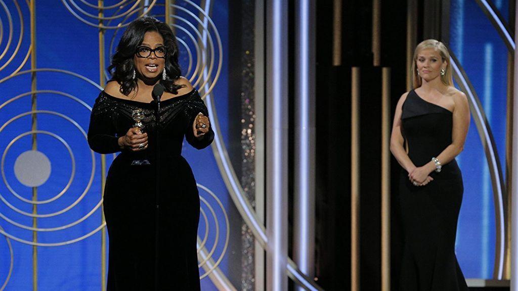 Oprah Winfrey y Reese Witherspoon, en la 75º edición de los Globos de oro.