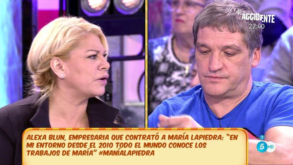 "Alexa Blun, empresaria que contrató a María Lapiedra: ""Estoy aquí porque Gustavo me da pena"""