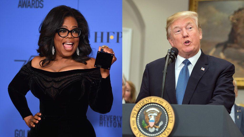 Trump no cree en la posible candidatura de Oprah, aunque da por seguro que perdería