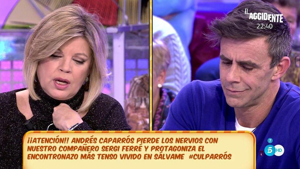 "Terelu Campos: ""Andrés Caparrós me ha dicho que ha llegado un momento que le resultaba difícil seguir aquí"""