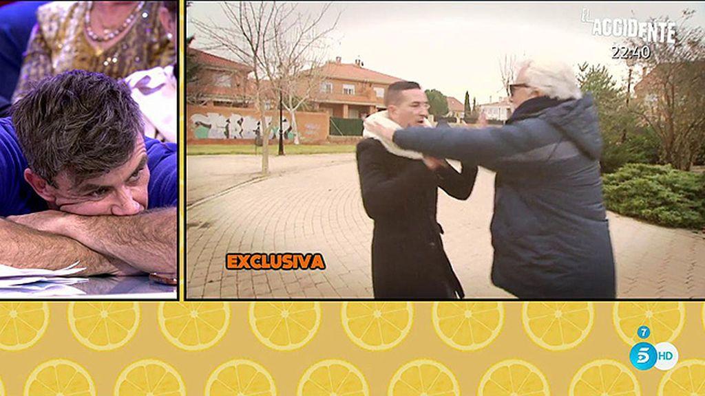 El momento más tenso de Andrés Caparrós: Intenta bajar la cámara y empuja a Sergi Ferré