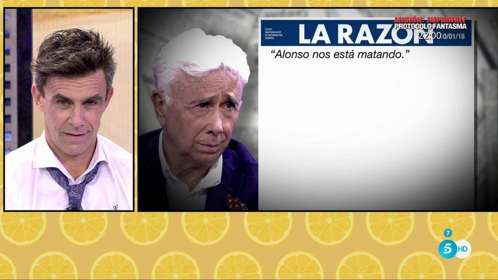 """Andrés Caparrós , en 'La Razón': """"Alonso nos está matando"""""""
