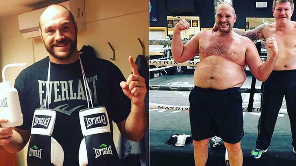 La transformación del boxeador Tyson Fury: pierde 25 kilos para volver a subirse al ring