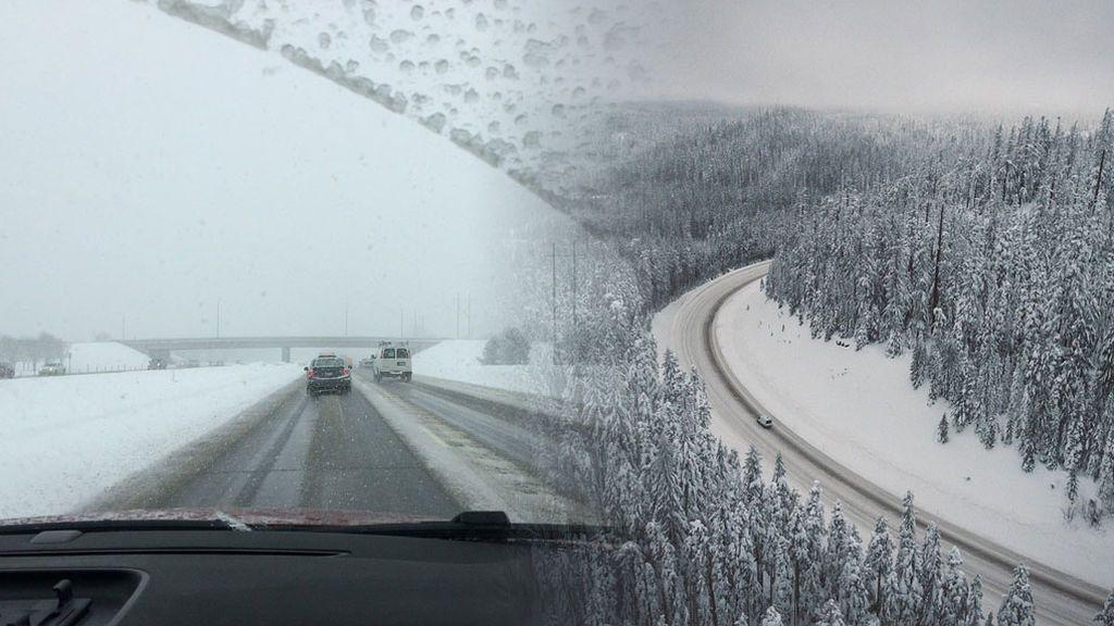 ¡Precaución por nieve y hielo! Más de 90 carreteras afectadas por el temporal