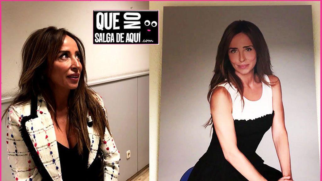 Así fue la reacción de María Patiño al verse por primera vez en el 'paseo de la fama' de Mediaset