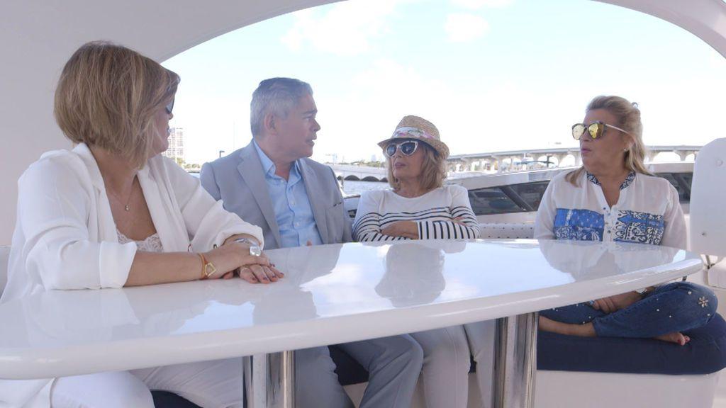 Terelu Campos, Boris Izaguirre, María Teresa Campos y Carmen Borrego.