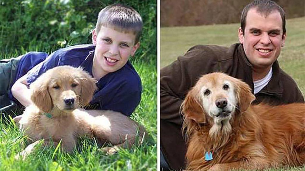 El ayer y hoy de estos perros con sus dueños