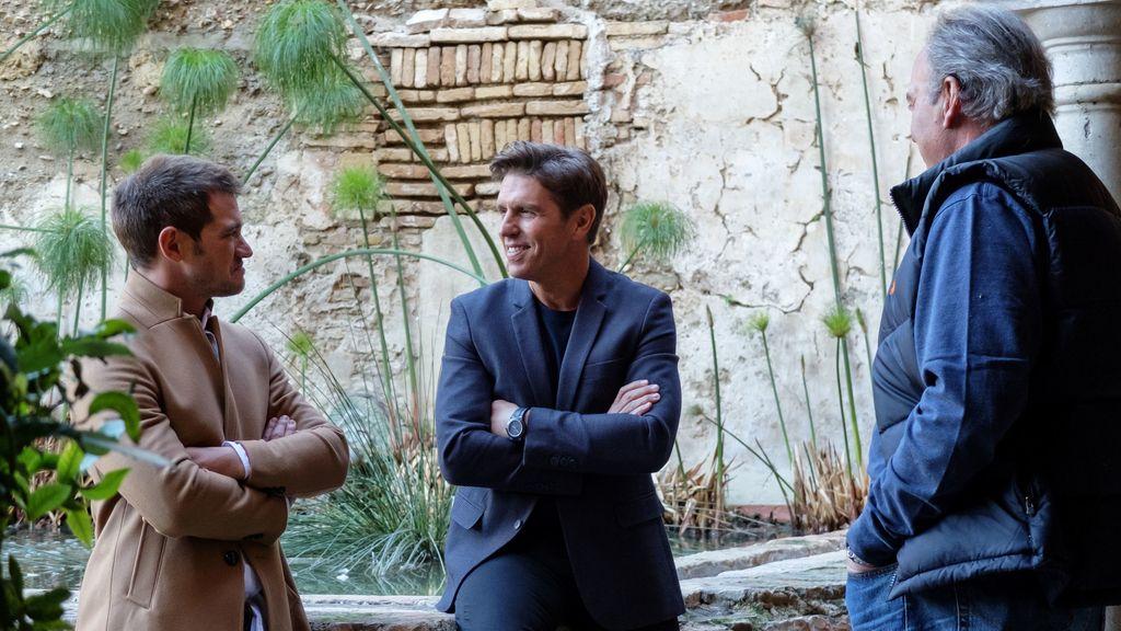 Manuel Díaz y Julio Bénitez, hijos del Cordobés, junto a Bertín Osborne en 'Mi casa es la tuya'.