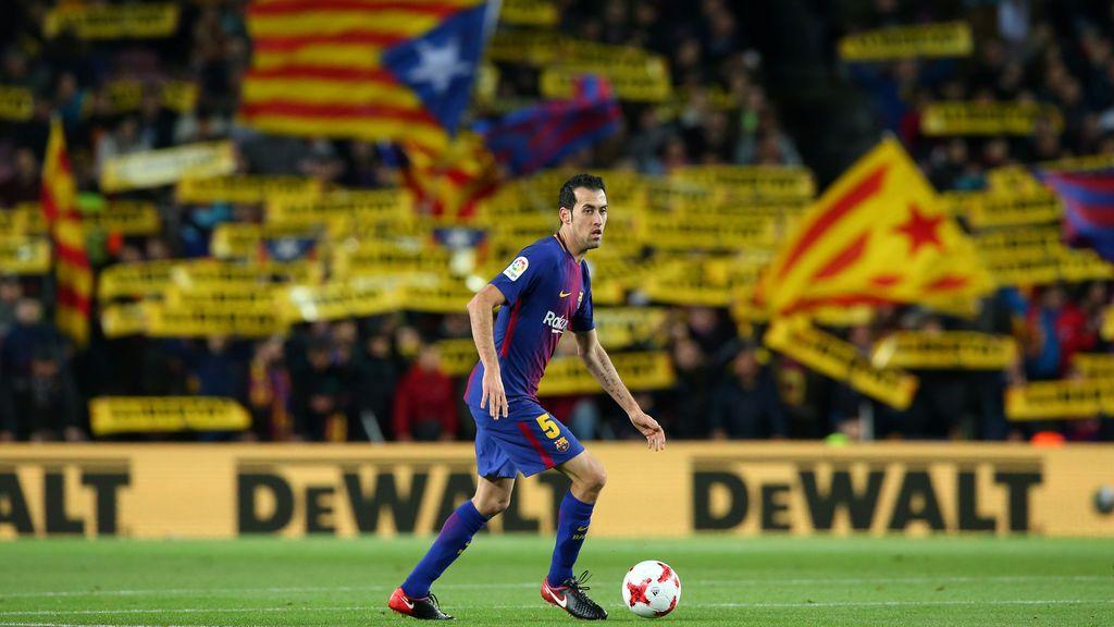 El Camp Nou volvió a pedir la libertad de los presos independentistas catalanes