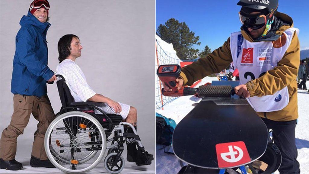'Vic', tetrapléjico tras un accidente, prometió a su madre que haría 'snowboard' en unos juegos paralímpicos y lo ha logrado
