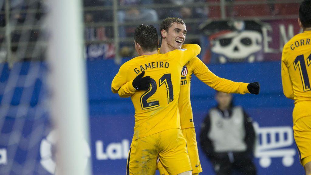 Gameiro y Oblak sacan tres puntos de Ipurua (0-1)