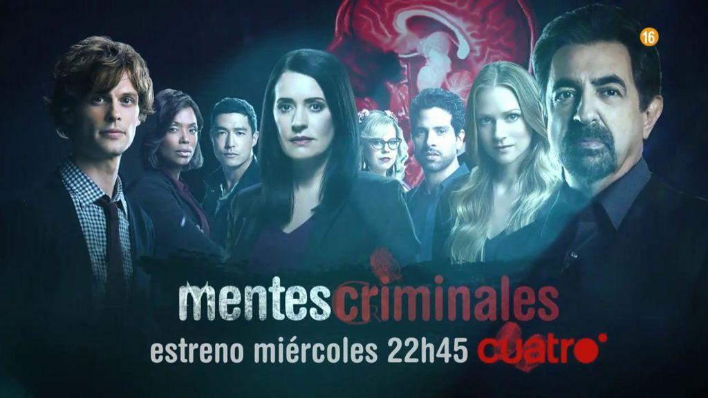 Nueva temporada de 'Mentes criminales': doble capítulo el miércoles a las 22.45 h.